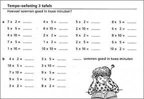 29 Producten uit de tafels van vermenigvuldiging (tot en met 10 ) uit ...: www.rekeneninlijn-vrijeschool.nl/rcdtcd/referentieniveaus/refniveau...